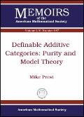 Definable Additive Categories: Purity and Model Theory (Memoirs of the American Mathematical...