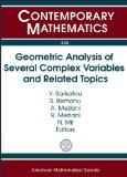 Geometric Analysis of Several Complex Variables and Related Topics (Contemporary Mathematics)