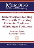 Semiclassical Standing Waves with Clustering Peaks for Nonlinear Schrodinger Equations