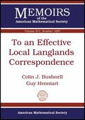To an Effective Local Langlands Correspondence