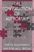 Construction of Authorship Textual Appropriation in Law and Literature