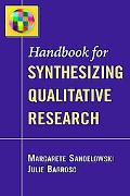 Handbookf for Synthesizing Qualitative Research
