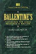 Ballentine's Thesaurus F/legal Rsrch...