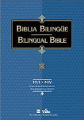 NVI/NIV Biblia Bilingue, piel imitacion negro, indice (Bilingual Bible)