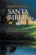 NVI Biblia Ultrafina: Nueva Version Internacional, piel imitacion negro, indice, letra roja