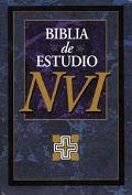 NVI Biblia de Estudio: Nueva Version Internacional, piel especial negro