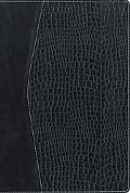 NVI/NIV Biblia bilingue dos tonos Itlailiana, negro/croc - Zondervan Publishing - Hardcover ...