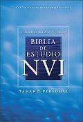 NVI Biblia de estudio, tapa dura 4/colores, tamano personal