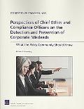 Perspectives of Chief Ethics and Compliance Officers on the Detection and Prevention of Corp...
