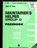 Maintainer's Helper, Group D(Passbooks) (C-468)