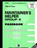 Maintainer's Helper, Group E(Passbooks) (C-469)