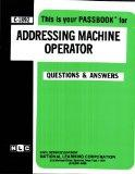 Addressing Machine Operator(Passbooks) (Career Examination, C-1892)