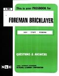 Foreman Bricklayer