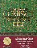 King James Compact Reference Bible Burgundy Bonded Leather