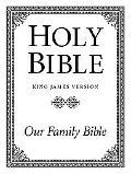 Three Column Family Altar Bible: King James Version (KJV), white imitation leather, words of...