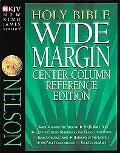 Holy Bible Wide Margin Center-Column Reference Edition New King James Version  Burgundy/Genu...
