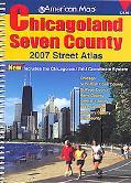 American Map Chicagoland Seven County, Illinois Atlas