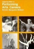 Opportunities in Performing Arts Careers - Bonnie Bjorguine Bekken - Paperback