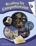 Reading Comprehension Workbook: Reading for Comprehension, Level D - 4th Grade