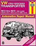 Vw 1700/1800/2000 Transporter/All Models 1972 Thru 1979 102.5 Cu in 109.5 Cu in 120.2 Cu in