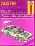Austin Ambassador 1982-84 Owner's Workshop Manual (Service & repair manuals)