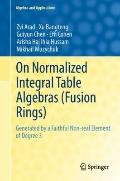 On Normalized Integral Table Algebras (Fusion Rings) Generated by a Faithful Non-real Elemen...