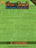 How to Teach Academic Vocabulary