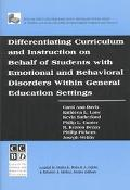 Differentiating Curriculum And Instruction On Behalf Of Students With Emotional And...
