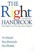 Right Handbook Grammar and Usage in Context