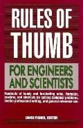Rules of Thumb for Scientists and Engineers - David J. Fisher