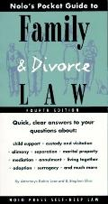 Nolo's Pocket Guide to Fam.+divorce Law