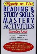 Ready-To-Use Reading & Study Skills Mastery Activities Secondary Level