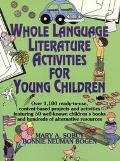 Whole Language Literature Activities for Young Children - Mary A. Sobut - Paperback - SPIRAL