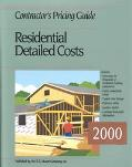 Contractors Pricing Guide: Residential Detailed Costs 2000