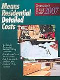 Means Residential Detailed Costs Contractor's Pricing Guide 2007
