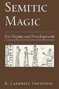 Semitic Magic Its Origins and Development