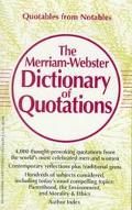 Merriam-Webster Dictionary of Quotations