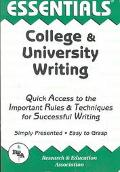 Essentials of College & University Writing