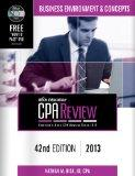 Bisk CPA Review: Business Environment & Concepts - 42nd Edition 2013 (Comprehensive CPA Exam...
