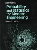 Probability and Statistics for Modern Engineering