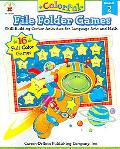 Colorful File Folder Games Grade 2 Skill-building Center Activities for Language Arts and Math