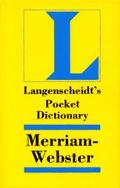 Langenscheidt's Pocket Dictionary Merriam-Webster English