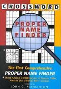 Crossword Proper Name Finder