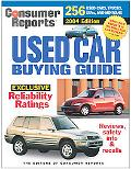 Consumer Reports Used Car Buying Guide 2004