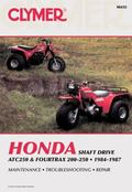 Honda Shaft Drive Atc250 and Fourtrax 200-250  1984-1987  Service, Repair, Maintenance/A455
