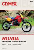 Honda Cr250-500R Pro-Link, 1981-1987 Service Repair Maintenance/M443