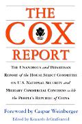 Cox Report U.S. National Security and Military/Commercial Concerns With the People's Republi...