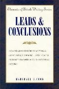 Leads & Conclusions - Marshall J. Cook - Hardcover