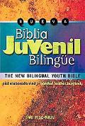Biblia Juvenil Bilingue New King James Version 1960 Piel Vino Elaborada