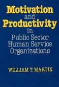Motivation and Productivity in Public Sector Human Service Organizations